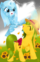 Frolicking Friends by equinepalette