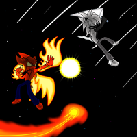 Comission: Red vs White, Comet vs Meteor! by moralde10