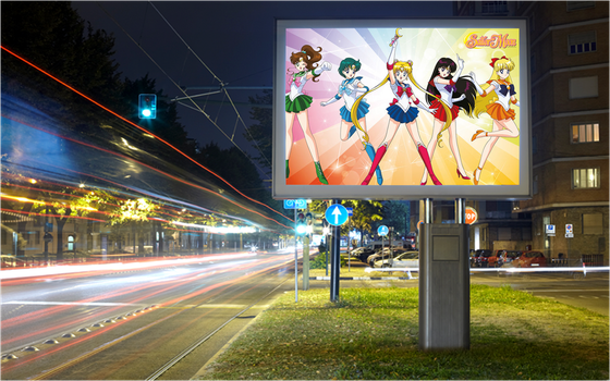 This poster shows Sailor Moon by MarcosPower1996
