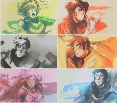 Defender doodles [Voltron: Legendary Defender] by The-Longfall-of-1979