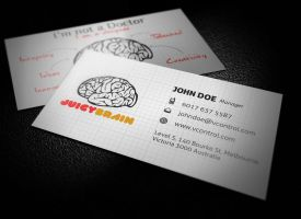 Juicy Brain Business Card No.3 by KaixerGroup