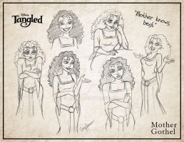 Mother Gothel Sketches by Cor104