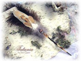 Tatania FAE QUEEN Feather Pen by ChaeyAhne