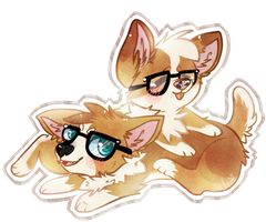 corgi bro by Michibu