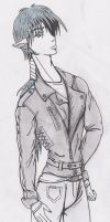 Ghabriel and Leather Jacket by Silvaines