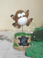 Clay Figure: Monty Mole by DinoeArchelon