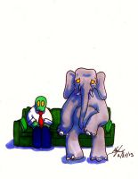 Elephant in the Room by libranchylde