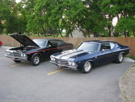 Two 1969 Chevelle 396 SS by Qphacs