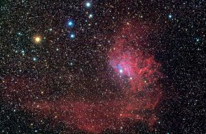The Flaming Star Nebula by ZeSly