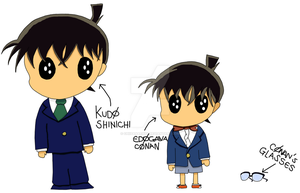 Shinichi and Conan Colored by ChiisanaENVY