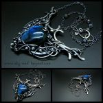 Flight of Passion Pendant and Necklace by rodicafrunze