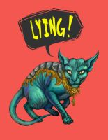 Lying-cat by BonzoK