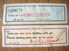 Cross-Stitch Bookmarks 1 and 2 by Tiggermyk