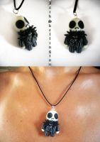 Jack Skellington Pendant by FelineArtisan