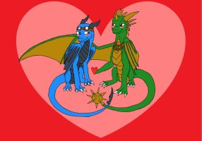 Our first Valentine *extremely late* by Dantedragon
