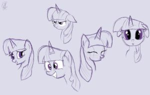 Twilight Sparkle sketches by rosiewright