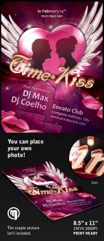 Time Kiss Flyer Template by mfcoelho