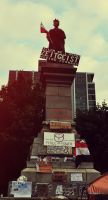 Occupy Montreal: Statue II by skullkid4900