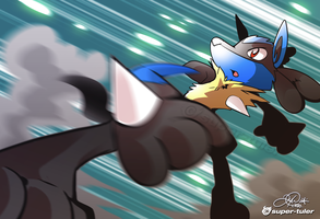 Lucario senses trouble by super-tuler