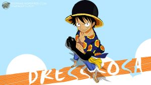 One Piece 1 Dressrosa (Luffy) - 2560x1440 by PugPrime