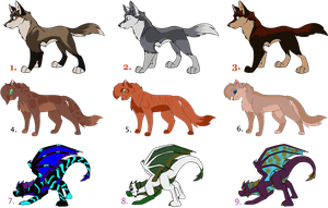 Free Adoptables by YKGadopts