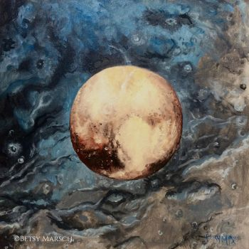 Pluto over Charon by Paintsmudger