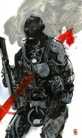 Roger the Homunculus of B.P.R.D. by Nathan Fox by AshcanAllstars