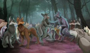 Wild Wolves by tallison