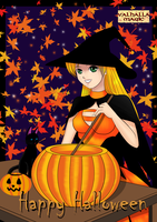 Maya Halloween Pumpkin Witch by StarlightMemories