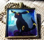 Umbreon Glass Charm by BlackManaBurning
