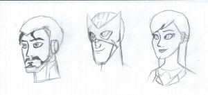 Avengers EMH Head Sketches by GalaxyGirl5
