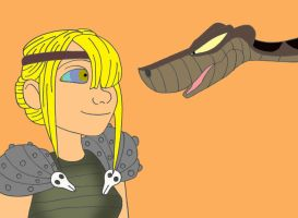 Request 55: Astrid and Kaa by Disneycow82
