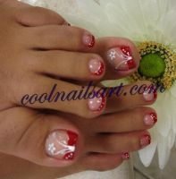 Red Toes Flower Design by thientu83