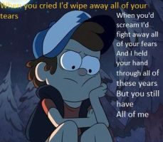 Thought these lyrics would fit on this picture by Dreere33