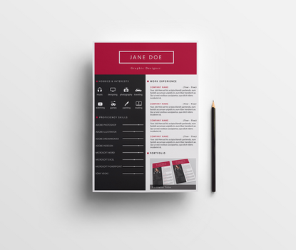 CV Template PSD by Anuya