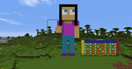 Estatuilla de minecraft by anabel99