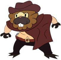Cowboy Bidoof by mrstupes