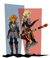Rosin and Caitlyn by Themanlylobster