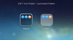 iOS 7 Icon Project - Launchpad Folders by ccard3dev