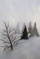 Snowy moutains by kathysgirl589