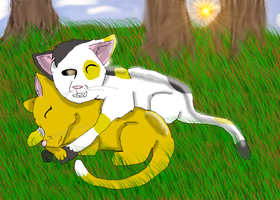 Patchclaw+Katharinestar -ART TRADE- by graystriperules8