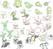 Doodles 6 pokemon by Juana-the-Hedchinda