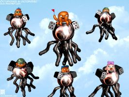 Octopodes in octopods by Ragathol