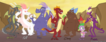 Garble - Dragon line up by peachiekeenie