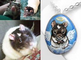 Custom Rat Pendant Necklace by sobeyondthis