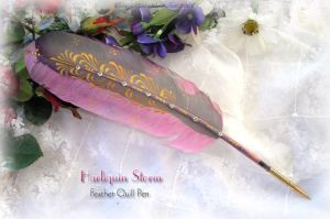 HARLIQUIN STORM Feather Pen by ChaeyAhne
