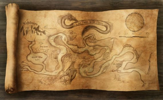 Rain Wild River map by Winterkeep