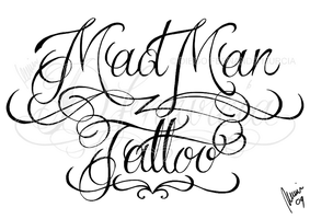 Mad Man Tattoo lettering 2 by dfmurcia