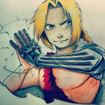 Edward Elric from FMAB by MasteringAnime