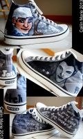 Custom Shoes: Pitch/Jack Converse by CailinMarie